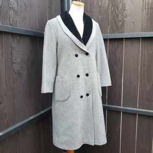 Vintage Wool Velvet Princess Double Breasted Coat
